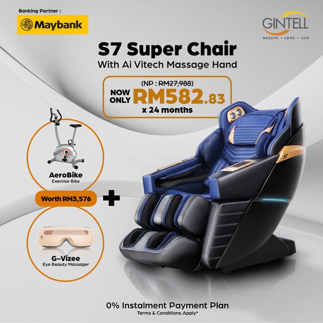 S7 SuperChAiR 【FREE Aerobike FT204 + G-Vizee Eye Beauty Massager】