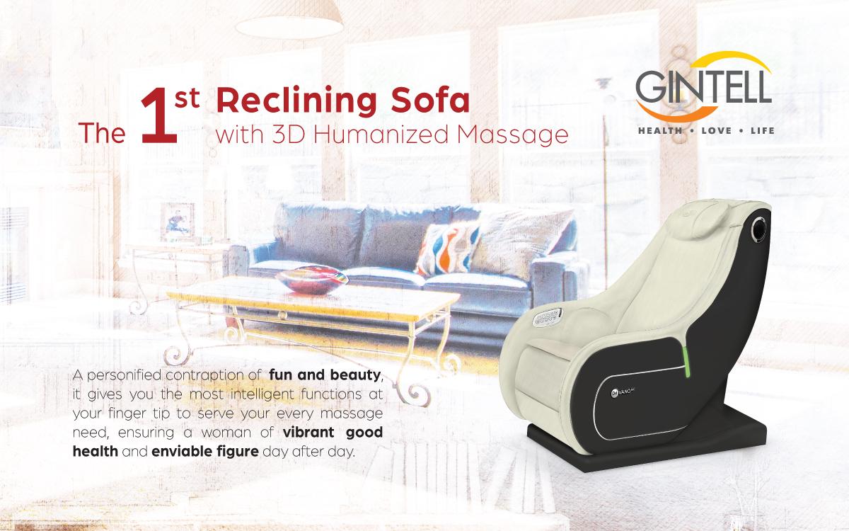 Gintell DeVano SV Pearl White Massage Chair