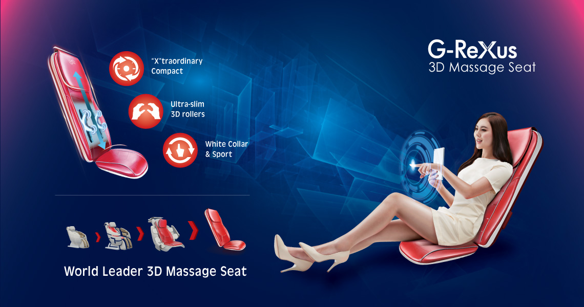G-Rexus 3D Massage Seat Portable Massager