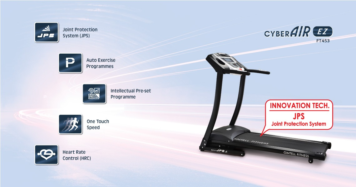 Gintell CyberAIR EZ Treadmill FT453 Fitness Equipment