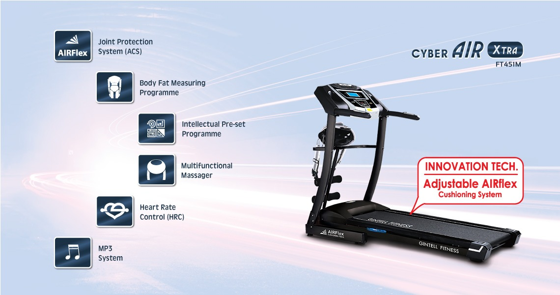 Gintell CyberAIR Extra Treadmill FT451M Fitness Equipment