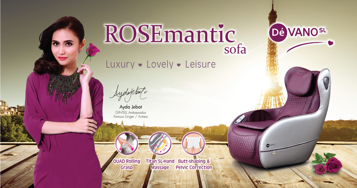 Gintell DéVano SL ROSEmantic Massage Chair